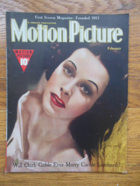 Image for Motion Picture Magazine April, 1939 (Hedy Lemar cover)