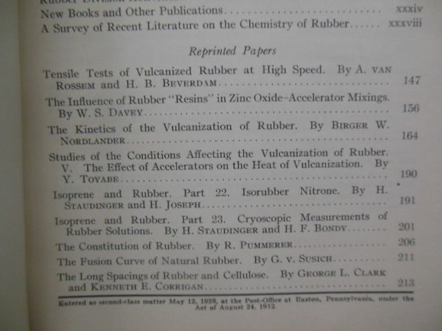 Rubber Chemistry and Technology Journal April, 1931