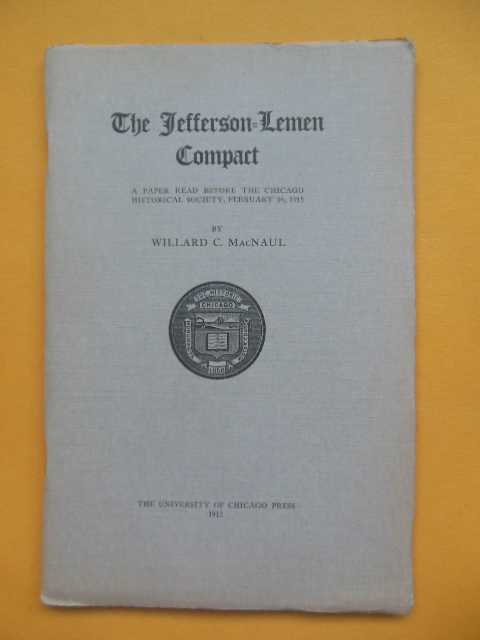 Image for The Jefferson-Lemen Compact (1915)