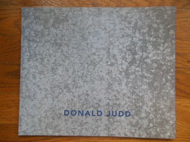 Image for Donald Judd Early Fabricated Work (Art Catalog 1998)