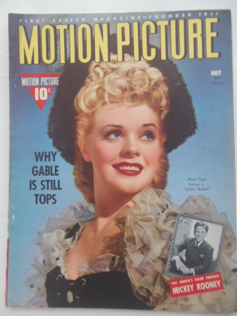 Image for Motion Picture Magazine July, 1940 (Alice Faye cover)
