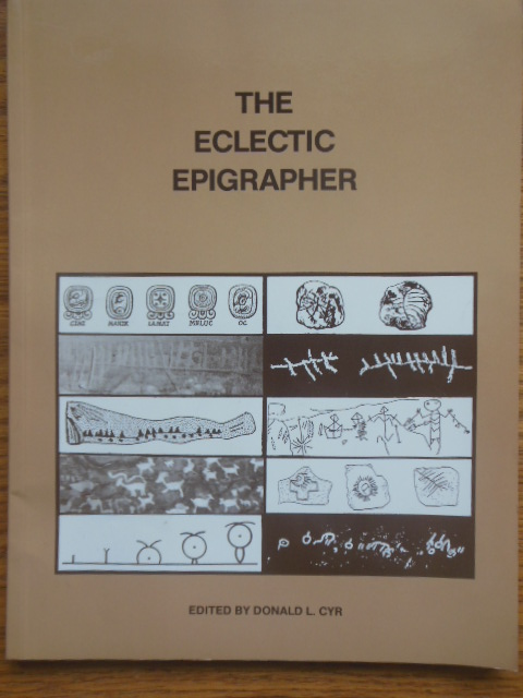 Image for The Eclectic Epigrapher (Stonehenge Viewpoint Issues  99-100)