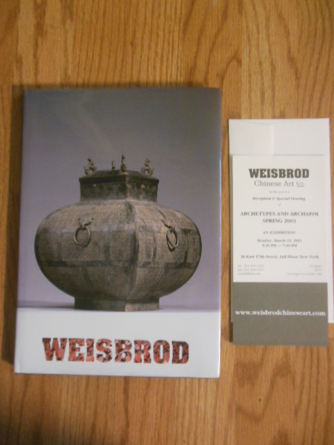 Image for Weisbrod Archetypes and Archaism Spring 2001 (Chinese Art Antiquities Auction Catalog)