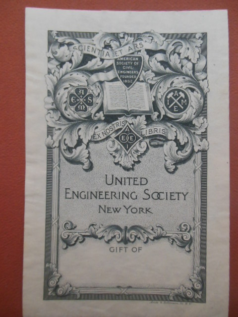 Image for Bookplate United Engineering Society New York (1900)