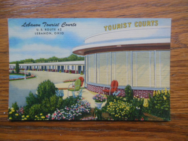 Image for Postcard Lebanon Tourist Courts (Ohio)