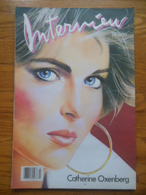 Image for Andy Warhol's Interview Magazine July, 1986 (Catherine Oxenberg Cover)