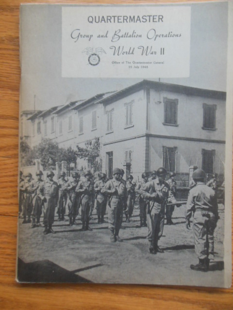 Image for Quartermaster Group and Battalion Operations World War II (1948)