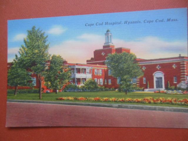 Image for Postcard Cape Cod Hospital, Hyannis, Cape Cod, Mass.