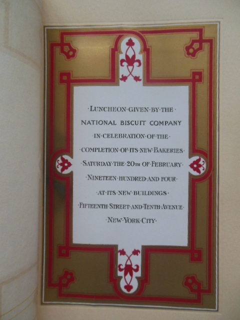 Image for National Biscuit Company Luncheon Celebrating New Bakeries (Feb. 20, 1904)