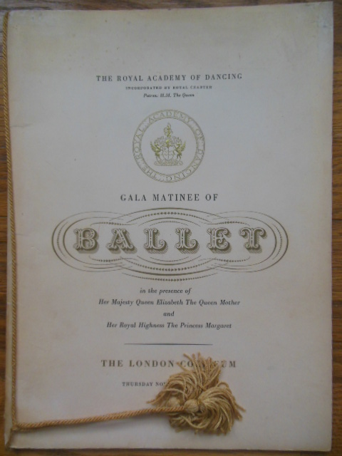 Image for The Royal Academy of Dancing Gala Matinee of Ballet 1958  (Margot Fonteyn)