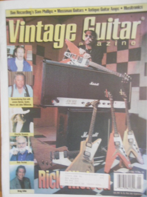 Image for Vintage Guitar Magazine September, 1997
