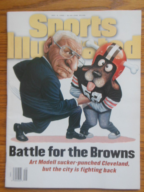 Image for Sports Illustrated Magazine: Battle for the Browns Dec. 4, 1995