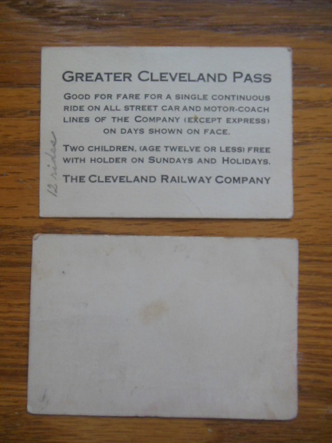 Image for Vintage Tickets The Cleveland Railway Company (1932, 1935)