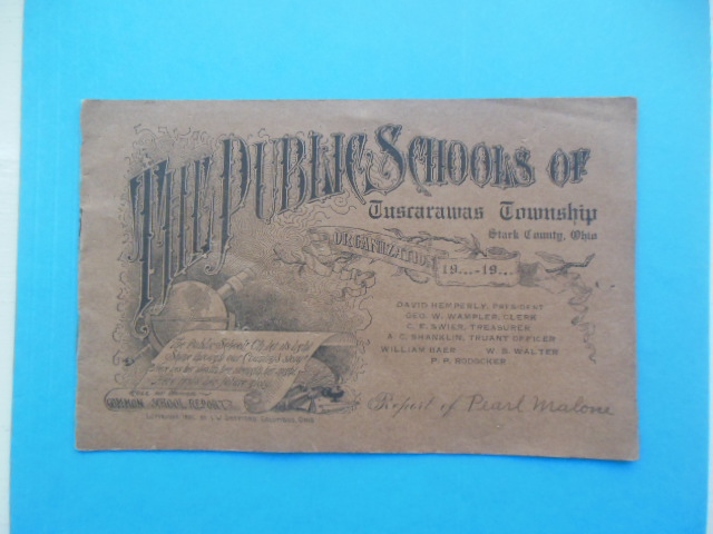 Image for Vintage Report Card Public Schools of Tuscarawas Township Stark County, Ohio(1912)