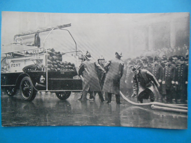 Image for Postcard New York City Fire Fighters 1921