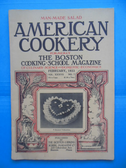 Image for American Cookery Formerly the Boston Cooking-School Magazine February, 1933