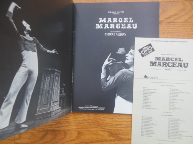 Image for Marcel Marceau Souvenir Book and Theater Program (1979)