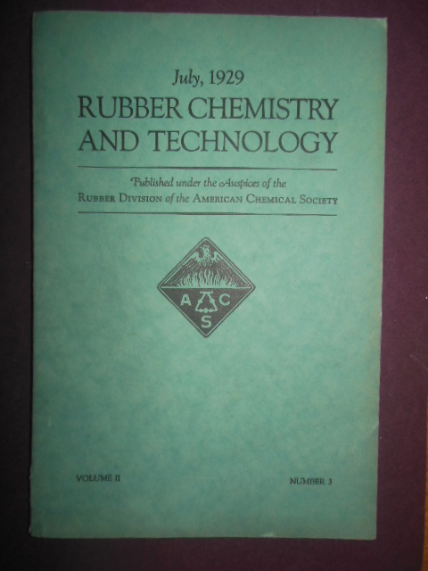 Image for Rubber Chemistry and Technology July, 1929
