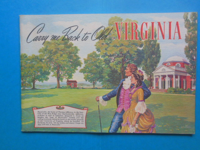 Image for Travel Brochure Carry Me Back to Old Virginia (1950's)