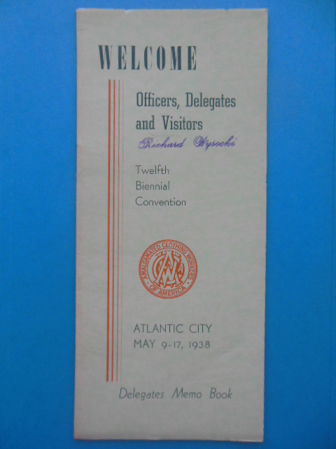 Image for Official Program Twelfth Biennial Convention Amalgamated Clothing Workers of America Atlantic City, New Jersey 1938