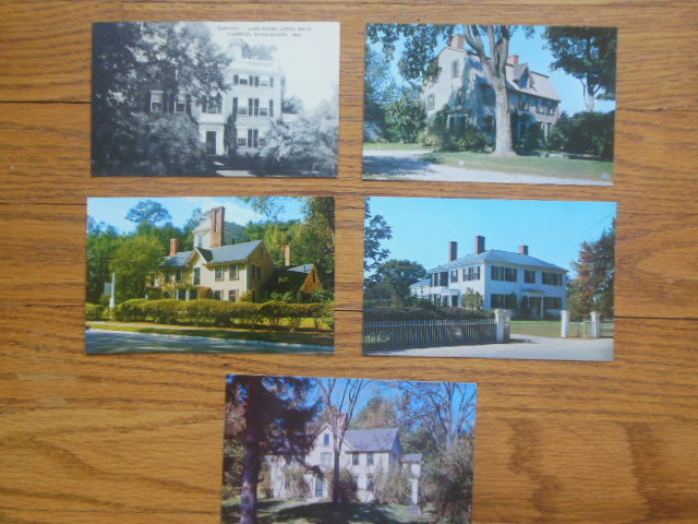 Image for Postcards Concord, Massachusetts Literary Homes(Lowell, Hawthorne, Alcott, Emerson)
