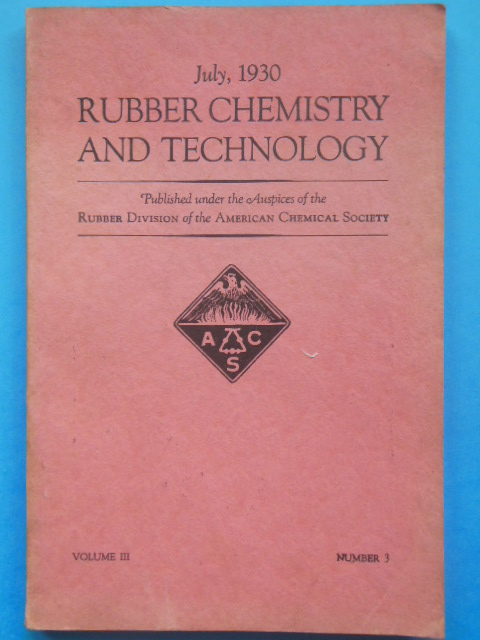 Image for Rubber Chemistry and Technology July, 1930