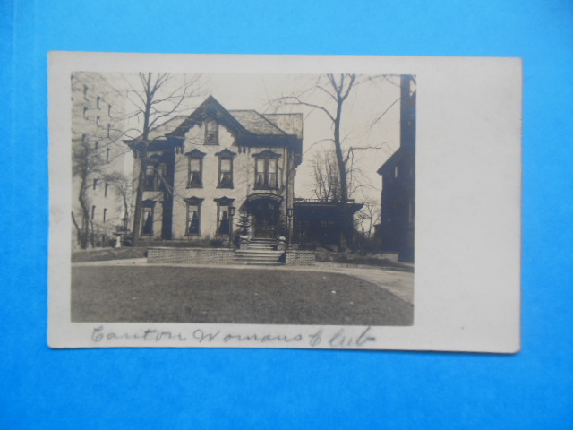 Image for Real Photo Postcard Canton, Ohio Woman's Club
