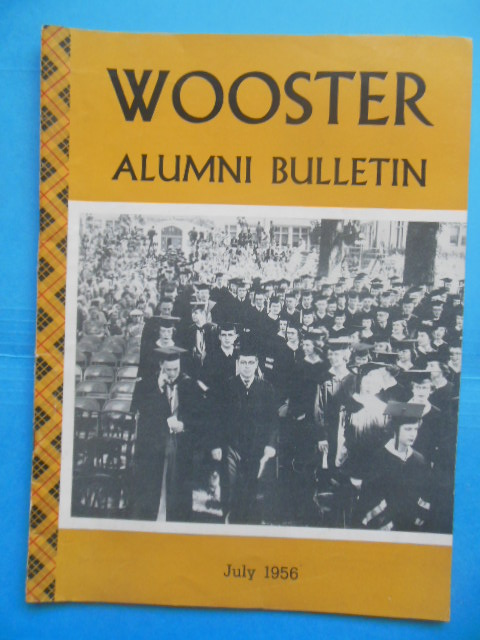 Image for Wooster Alumni Bulletin July, 1956 (Ohio Wooster College)