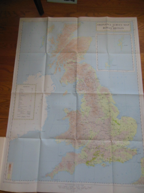 Image for Map of Roman Britain Scale 16 Miles To One Inch (1956)