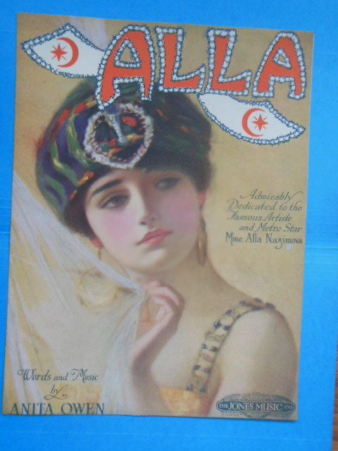 Image for Sheet Music Alla Admirably Dedicated to the Famous Artiste and Metro Star Mms. Alla Nazimova (1919)