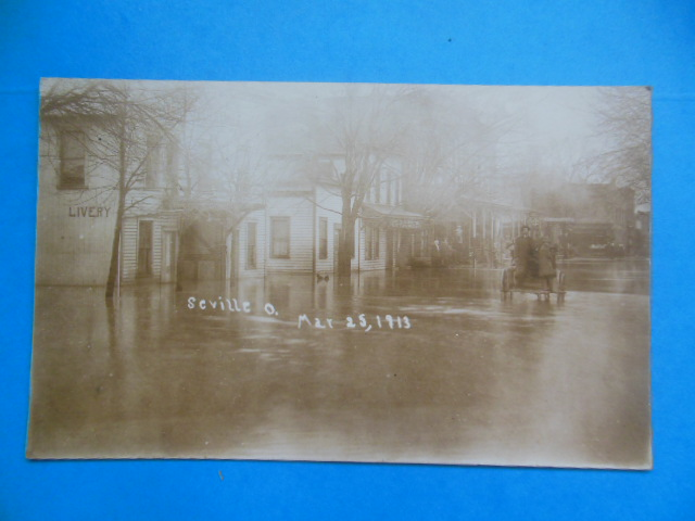 Image for Real Postcard Seville, Ohio Flood March 25, 1913