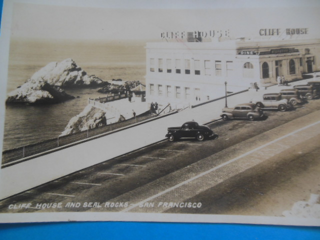 Image for Real Photo Postcard Cliff House and Seal Rocks, San Francisco (1940's)