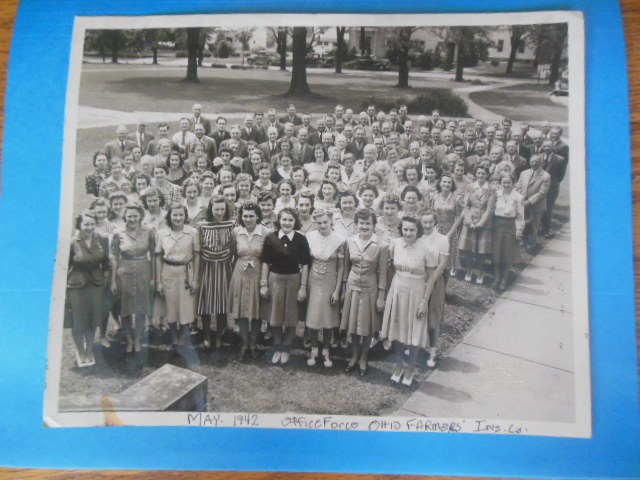 Image for Photograph Office Staff Ohio Farmers' Insurance Company, May 1942 (all names on back)