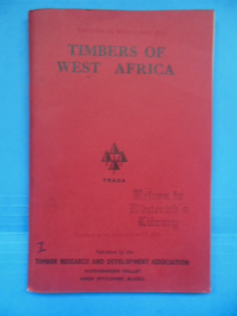 Image for Timbers of West Africa (1968)