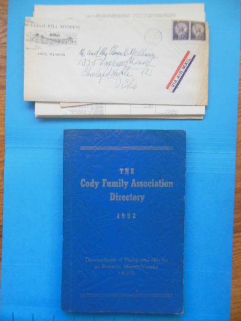 Image for The Cody Family Association Directory 1952 (Letters, Family Tree, Anniversary Program Buffalo Bill Cody Laid-in)