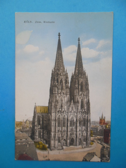 Image for Postcard Koln Dom. Westseite (German Church, 1927)