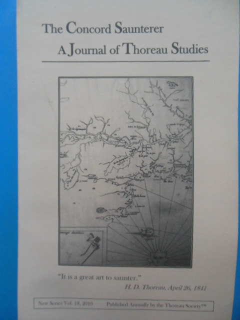 Image for The Concord Saunterer A Journal of Thoreau Studies vol. 18, 2010