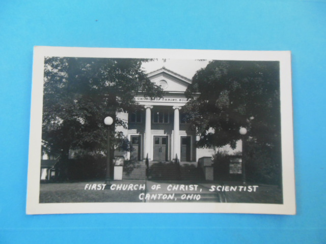 Image for Real Postcard First Church of Christ Scientist Canton, Ohio (1940's)