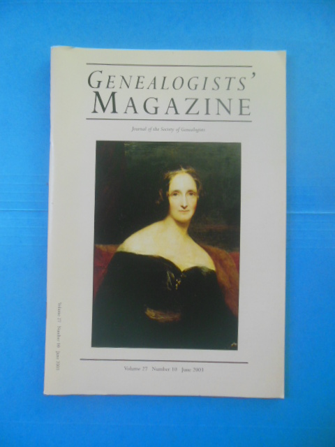 Image for Genealogists' Magazine: Journal of the Society of Genealogists June, 2003