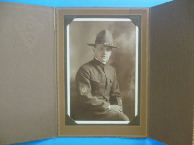 Image for Photograph WWI Doughboy Wearing Campaign Hat (circa 1911)