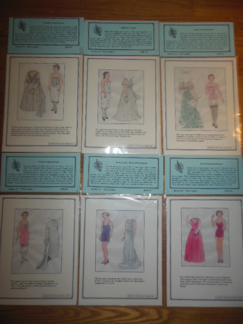 Image for First Ladies Paper Dolls, Series #1, Dolls 1-8