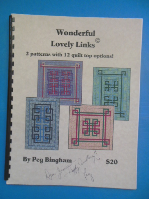 Image for Wonderful Lovely Links: 2 Patterns With 12 Quilt Top Options (2005, SIGNED)