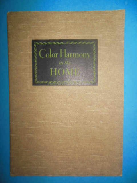 Image for Color Harmony in the Home (M.J. Whitthall Associates Ltd. 1929)