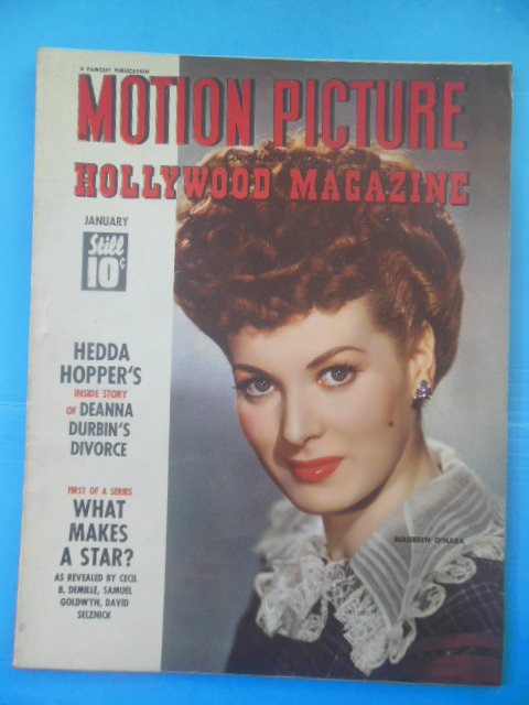 Image for Motion Picture Hollywood Magazine January, 1944 (Maureen O'Hara cover)