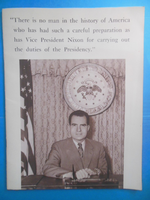 Image for Nixon-Lodge Volunteers of New Jersey: Nixon 1960 Campaign Booklet