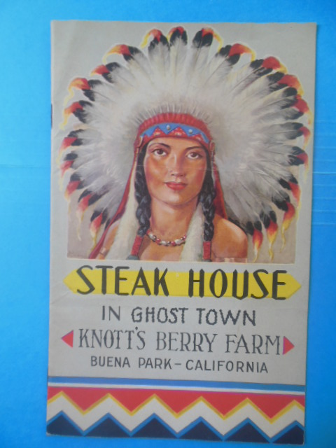 Image for Steak House in Ghost Town Knott's Berry Farm (Menu, 1950's)