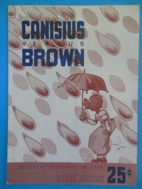 Image for Canisius Versus Brown Official Football Program September 28, 1946