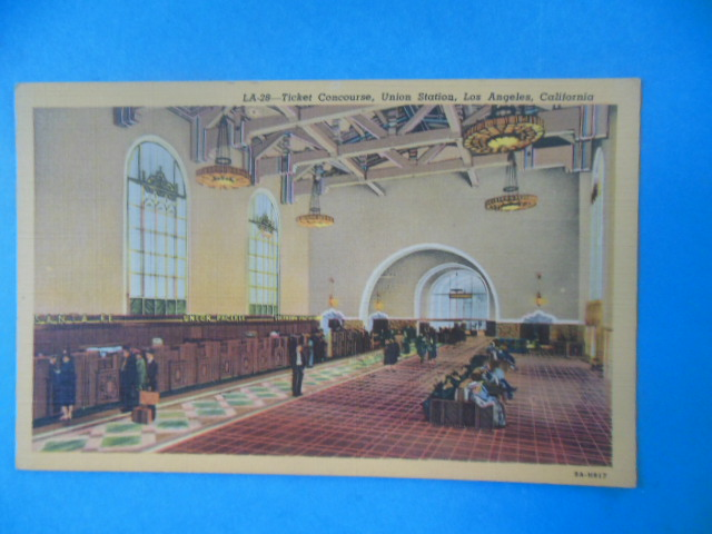 Image for Postcard Ticket Concourse, Union Station, Los Angeles, California