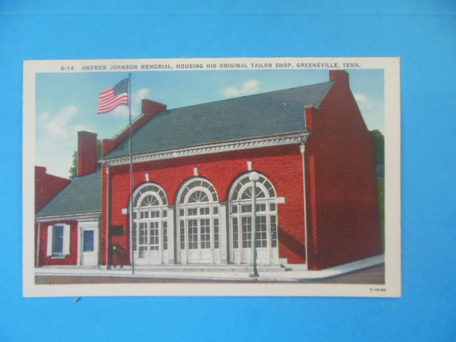 Image for Postcard Andrew Johnson Memorial Original Tailor Shop (Tennessee)