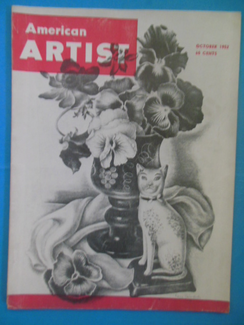 Image for American Artist Magazine October, 1952 (Pennsylvania Railroad Memorial. Offset Lithography)